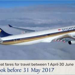 Singapore Airlines: Special Economy Class Fares to over 30 Destinations from $198