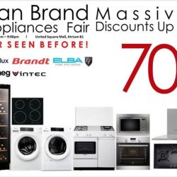 Mega Discount Store: European Brand Kitchen Appliances Fair Happening at United Square Mall Atrium
