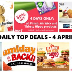 BQ's Daily Top Deals: $8 for 2-Hr KTV, Cathay Pacific Special Fares, Redmart Sale, 1-for-1 at Bakerzin, Umisushi $1 Sushi & More!