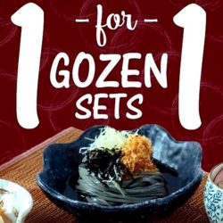 Sakae Sushi: 1-for-1 Gozen Sets for Admin Professionals