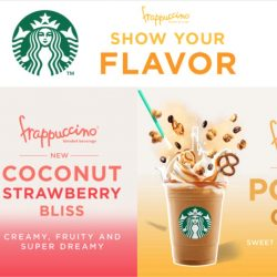 Starbucks: NEW Pop'zel Coffee Frappuccino© and Coconut Strawberry Bliss Frappuccino©