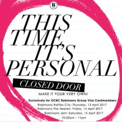 Robinsons: Closed Door Event with Personalisation Activities This Weekend