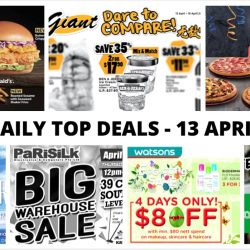 BQ's Daily Top Deals: Pizza Hut Buffet Fiesta, Ben & Jerry's Ice Cream Promo, Parisilk Warehouse Sale, Watsons $8 OFF & More!