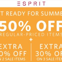 Esprit: Flash Sale with 50% OFF Regular-Priced Items Online!