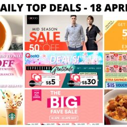 BQ's Daily Top Deals: 50% OFF Online at Esprit, 1-for-1 Starbucks Drink, G2000 Mid Season Sale, 1-for-1 Hot Kopi/Teh at Wang Cafe & More!