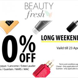 BeautyFresh: Enjoy 20% OFF regular-priced items from Chanel, Diptyque, Lancome, Estee Lauder, NARS, MAC & More!