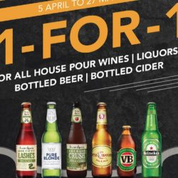 The House of Robert Timms: 1-for-1 House Pour Wines, Liqours, Beers and Ciders!