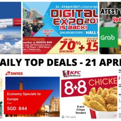 BQ's Daily Top Deals: Norwegian and Swiss Airlines Promo Fares to Europe from $199, Latest Taxi Codes, Digital Expo Fair 2017, 1-for-1 Drink at Starbucks & More!