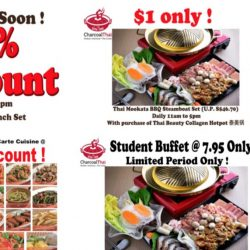 Charcoal Thai: 50% OFF Ala Carte Dishes and Mookata Lunch Set + $1 BBQ Steamboat Set!