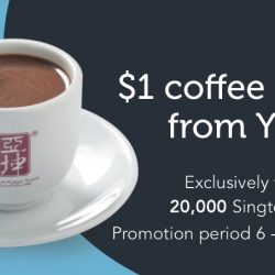 Singtel: $1 Coffee or Tea from Ya Kun!