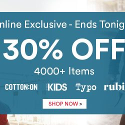 Cotton On:  30% OFF 4000+ Items Today Only!