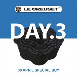[Le Creuset] Here's the clue to DAY 3 SPECIAL BUY at our Family Sale.