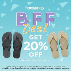 [Common Thread Singapore] Get a second pair of regular priced Havaianas, at 20% off, in our new BFF deal!