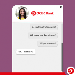 [OCBC ATM] People are flirting with Emma, the first AI-powered home & renovation loan specialist.