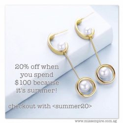 [Miss Empire] Because it's summer, you're getting 20% off when you spend $100 online!
