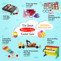 [Mothercare] Mothercare Online Exclusive: The Great Melissa & Doug Easter Sale – last 2 days!