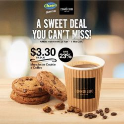 [Cheers] Sweeten your day with our crispy cookies and coffee!