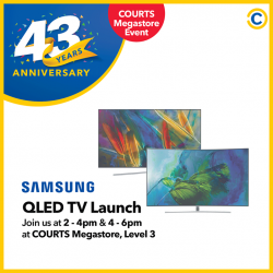 [Courts] Be the first to witness Samsung QLED TVs in its full glory at COURTS Megastore, Level 3 on 15 April