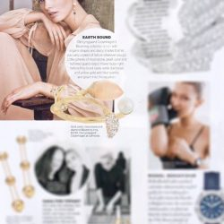 [LaPrendo] The all-new Ole Lynggaard Copenhagen blush moonstone Blooming ring with diamonds and pearl, as featured on Harper's BAZAAR,