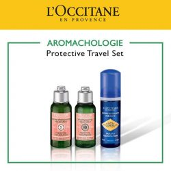 [L'Occitane] This month's travel set features our best-selling Aromachologie Repairing duo, Shampoo & Conditioner as well as the up-and-