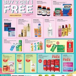 [Watsons Singapore] Enjoy incredible BUY 2 GET 1 FREE deals across participating brands like Berocca, Physiogel and more!