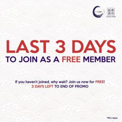 [Itacho Sushi] Itacho Sushi FREE MEMBERSHIP PROMOTION - 3 DAYS LEFT TO END OF PROMO TGIF come dine at ITACHO SUSHI and join
