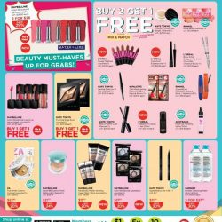 [Watsons Singapore] Enjoy incredible BUY 2 GET 1 FREE deals across participating brands like Maybelline, ZA and more!