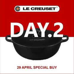 [Le Creuset] Here's the clue to DAY 2 SPECIAL BUY at our Family Sale.