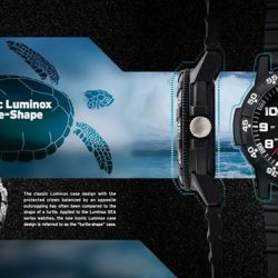 [Luminox] Luminox Leatherback SEA Turtle collection is built with the iconic Luminox case shape.