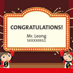 "[OCBC Premier Banking] Congratulations to Mr Leong, the winner of a Toys""R""Us shopping spree!"