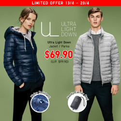 [Uniqlo Singapore] Thin, light, warm and water-repellent, the Ultra Light Down Jackets and Parkas are an excellent choice for layering under