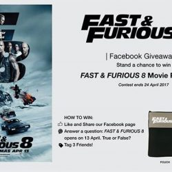 [Filmgarde Cineplex] Stand a chance to win FAST & FURIOUS 8 movie premiums!