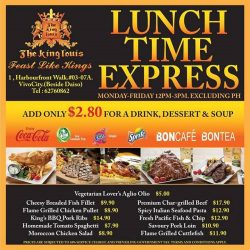[The King Louis Bar & Grill] Brand new lunch menu, lowest price ever!