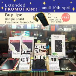 [NBC Stationery and Gifts] Extended PROMOTION Buy 1pc Boogie Board Electronic Memo Pad.