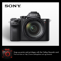 [Cathay Photo] Receive a $550 cashback and a FREE 64GB Card with every purchase of the Sony A7R II Body.