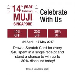 [MUJI Singapore] On top of our ongoing anniversary promotions on household favourites such as Beads Cushion and Aroma Diffuser, you will stand