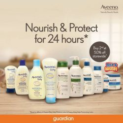[Guardian] Kick start your wellness journey towards naturally beautiful results with Aveeno's latest promotion for a limited time only at