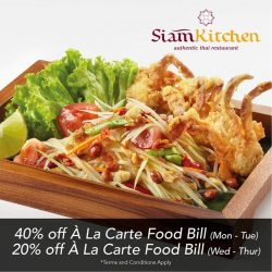 [Siam Kitchen] Amazing deals are coming your way!