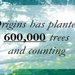 [Origins] Here at Origins, we have shown our commitment to the environment by using a combination of renewable resources and earth