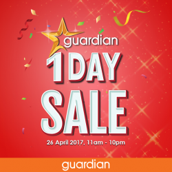 [FOOD LOVERS ONLY - FLO] Don't miss out on Guardian's 1 Day Sale in celebration of Guardian's Health & Beauty Awards 2017.