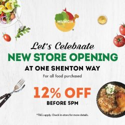 [Munch Saladsmith] Come down and celebrate our new store opening at One Shenton Way!