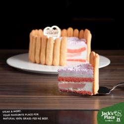 [Jack's Place] With Mother's Day fast approaching, spoil your Mum to a scrumptious and fluffy Rose and Lychee cake.