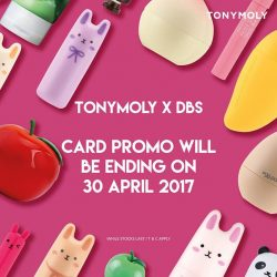 [Tony Moly Singapore] Notice : Tonymoly x DBS card promo will be ending on this coming month end , 30th April 2017.