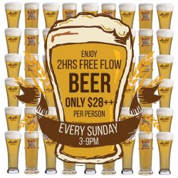 [District 10 Bar & Grill] If you have NOT already known, our UE Square outlet is launching our first ever FREE FLOW 2HR BEER SUNDAY