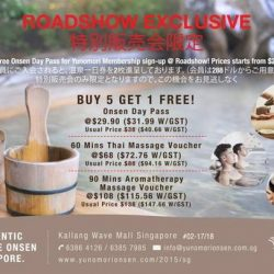[Yunomori Onsen and Spa] We are having our road show at Raffles Exchange from 3rd April to 7th April, 11am - 8pm!