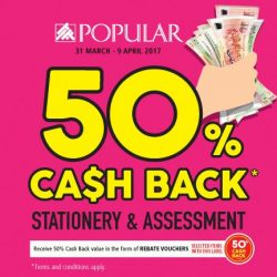 [POPULAR Bookstore] Don't miss the opportunity to enjoy 50% Cash Back on these great deals!