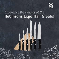 [WMF] Find all your kitchen needs in one place right here at the Robinsons Expo Hall 5 Sale from 13 - 23