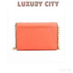 [Luxury City] New Collection michaelkors Jet Set Travel Leather Shoulder Bag 32T4GTVC3L Orange Via Links:http://www.