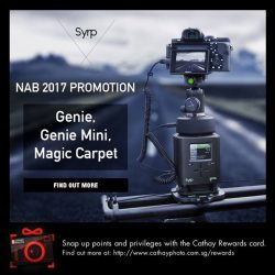 [Cathay Photo] For four days only (24 to 27 April), enjoy up to S$192 discount on your favorite SYRP products: Genie,