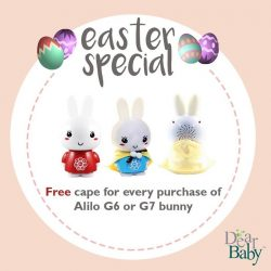 [DearBaby] An Easter special just for you: For every purchase of Alilo G6 Honey Bunny or Alilo G7 Big Bunny, get